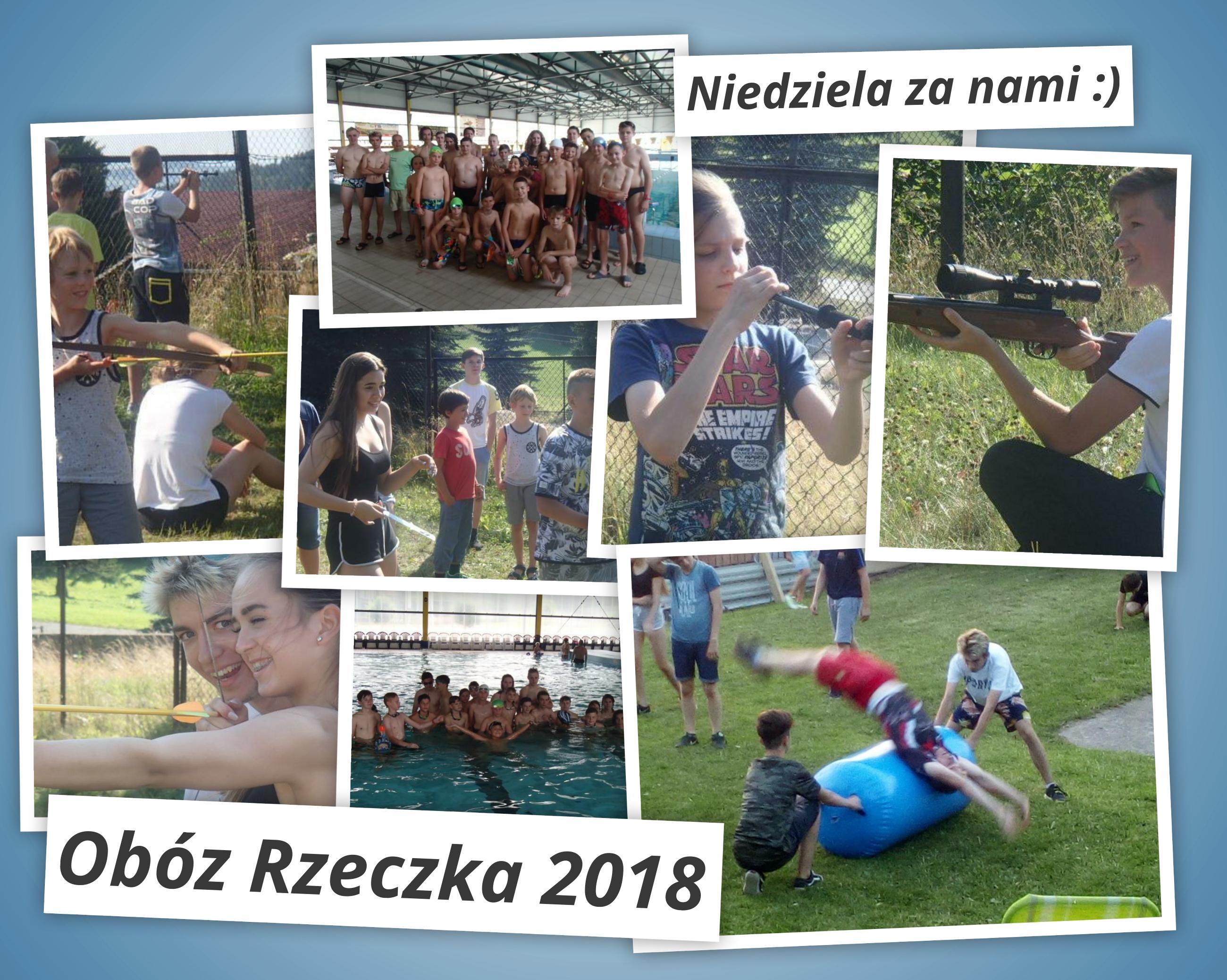 Obóz Rzeczka 2018 – aquapark i stzrelanie